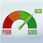 Picture of a credit score rating