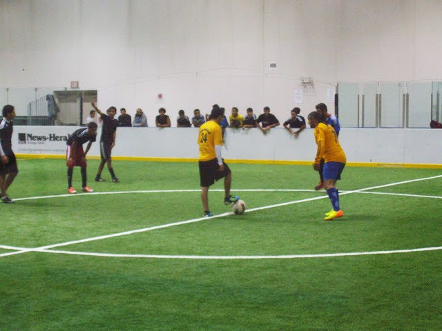 Indoor Soccer Being Played