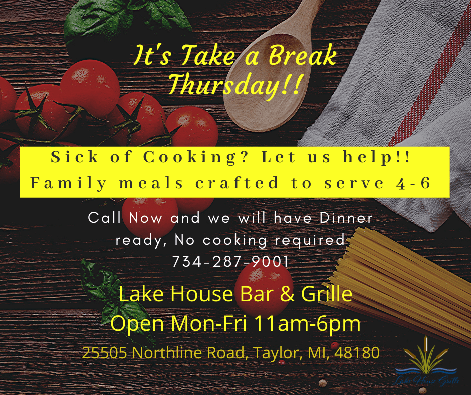 Lake House Bar and Grille Thursday